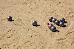 petanque比赛  免版税库存照片