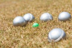 Petanque球 免版税库存图片