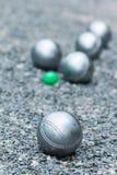 Petanque球 库存图片