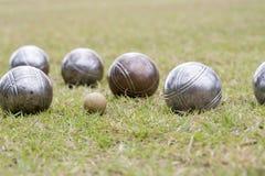 Petanque balls Stock Images