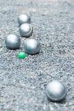Petanque bollar Royaltyfri Bild