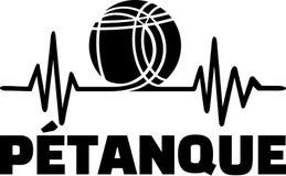 Petanque boule heartbeat pulse royalty free illustration