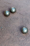 Petanque boules bawls Royalty Free Stock Images