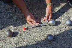 petanque boules de jeu Стоковые Фотографии RF
