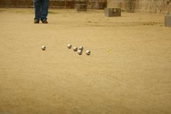 Petanque in France Royalty Free Stock Images