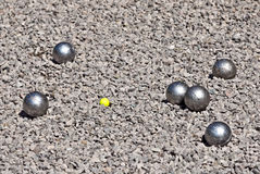 Petanque game Royalty Free Stock Images