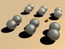 Petanque game balls Royalty Free Stock Photo