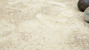 Petanque game stock footage