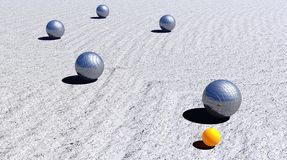 Petanque game by daylight Stock Photography