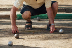 Petanque game Royalty Free Stock Photo