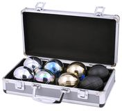Petanque Kit in Case. Petanque Kit on a white background stock photography