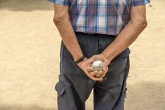 Petanque player Royalty Free Stock Image