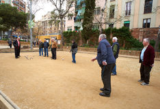 Petanque players Royalty Free Stock Photography