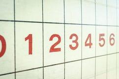 Petanque score board Stock Image