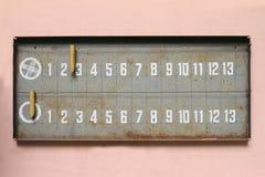 Petanque scoreboard Stock Photos