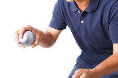 Petanque sport player Stock Image