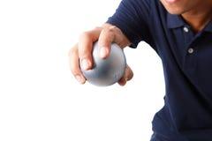 Petanque sportspelare Royaltyfri Fotografi