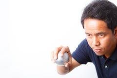 Petanque sportspelare Fotografering för Bildbyråer