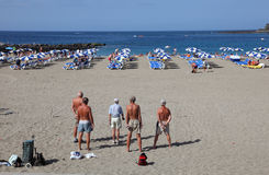 Petanque sur la plage Photo stock