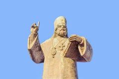 Petar I Petrovic Njegos staty i Podgorica, Montenegro Arkivfoto
