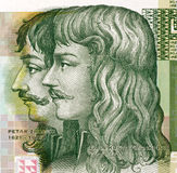 Petar Zrinski and Fran Krsto Frankopan. Petar Zrinski (1621-1671) and Fran Krsto Frankopan (1643-1771) on 5 Kuna 2001 Banknote from Croatia.  Attempted to throw Stock Photo