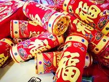 Petardi cinesi sul nuovo anno cinese e sulla celebrazione speciale fotografia stock libera da diritti