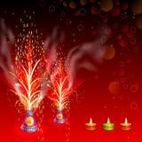 Petardo ardiente en Diwali feliz