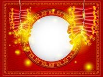Petardo chino de la Feliz Año Nuevo con el espacio de la copia Imagen de archivo libre de regalías