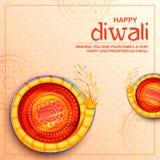 Petardo colorido en el fondo feliz del día de fiesta de Diwali para el festival ligero de la India libre illustration