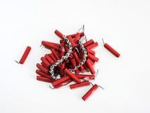 Petardos por Año Nuevo chino Foto de archivo libre de regalías