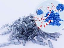 PETase-Enzyme, die Haustier-Plastik aufgliedern stock abbildung