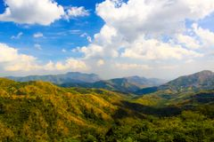 Petchaboon Thailand beautiful Mountain and blue sky. View Royalty Free Stock Photography