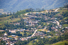 Petchabun , 29 November 2016 :: Road curve to Phu Tub Berk Mount Royalty Free Stock Images