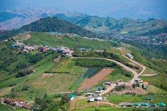 Petchabun , 29 November 2016 :: Road curve to Phu Tub Berk Mount Stock Images