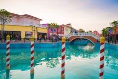 PETCHABURI,泰国- 2013年12月13日:Venezia华欣 免版税库存图片