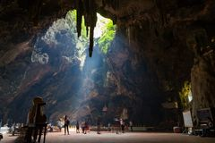 Khao luang cave Royalty Free Stock Photo