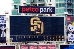 Petco Park scoreboard Royalty Free Stock Photos