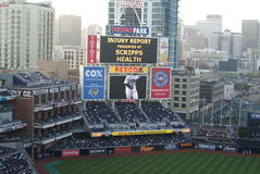 Petco Park Scoreboard - San Diego Padres Royalty Free Stock Image