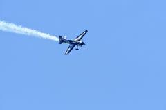 Pete Mcleod von Kanada führt während Red Bull-Wettfliegen durch Lizenzfreies Stockbild