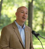 Pete Ricketts, Candidate for Governor of Nebraska,  speaks at Tea Party Rally Royalty Free Stock Image