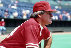 Pete Rose Baseball Player royaltyfria bilder