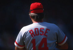 Pete Rose of the Cincinnati Reds Royalty Free Stock Photography