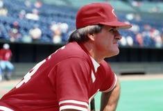Pete Rose of the Cincinnati Reds. Portrait pop art photo stock photos