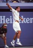 Pete Sampras, Tennis Pro. ATP tennis superstar Pete Sampras. (Image taken from color slide royalty free stock image