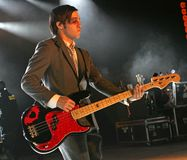 Fall Out Boy Performs in Concert. Pete Wentz with Fall Out Boy performs in concert at the Pompano Beach Amphitheater in Pompano Beach, Florida on April 21, 2009 royalty free stock photography