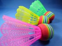 Petecas do plástico de Colourfull Imagens de Stock Royalty Free