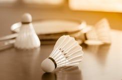 Petecas e raquete Fotografia de Stock