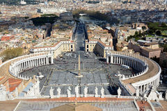 PeterСвятого квадратные в государстве Ватикан Стоковая Фотография