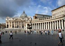 Peter świętego miasta s square Watykanu Fotografia Royalty Free