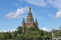 Peter και καθεδρικός ναός του Paul σε Peterhof, Ρωσία Στοκ Εικόνες